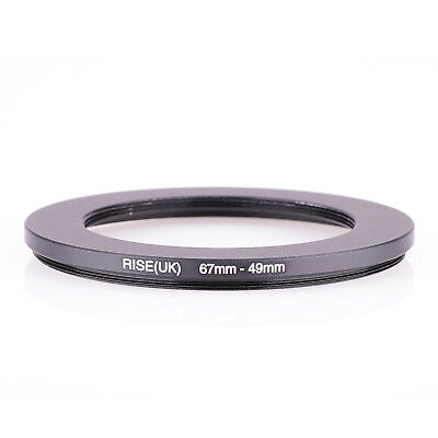RISE(UK) 67mm-49mm 67-49 mm 67 to 49 Step down Ring Filter Adapter black
