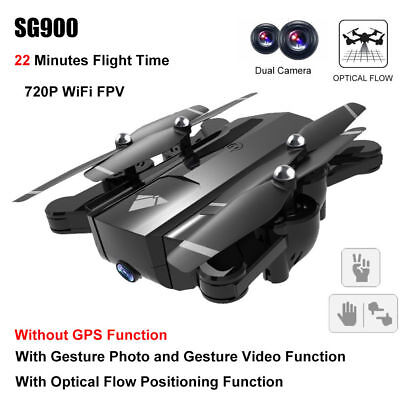 SG900 Foldable RC FPV Drone Quadcopter Optical Flow 720P Camera Gestures Photo