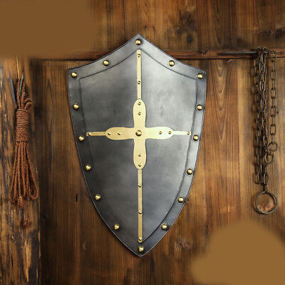 D28 Europe Retro Medieval Shield Antique Knight Armour Wall Home Decor Full Size