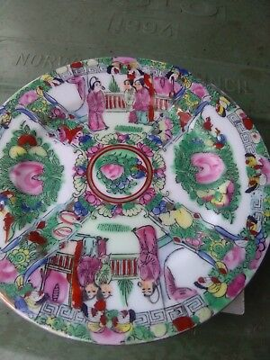 Antique chinese Canton plate small beautifully painted Famille Rose