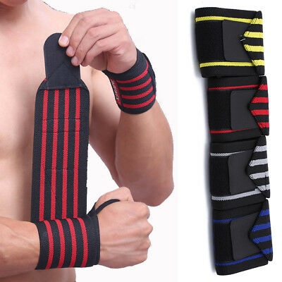 252b7002f9 Weight Lifting Hand Wraps Wrist Strap Gym Bodybuilding Support Bandage  Guard PF
