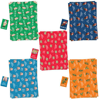 Christmas Xmas Gift Wrap Sheets And Tags Funny Rude For Men & Women