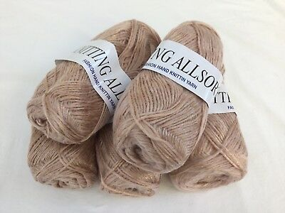 Job Lot Light Brown With Sparkle Double Knit Knitting Wool - 500g