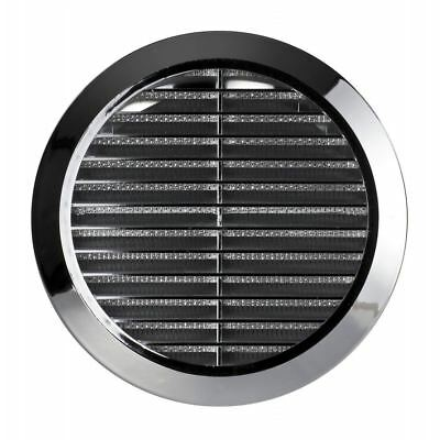 """Circle Air Vent Chrome Grille Adjustable Ducting 100mm 4"""" to 150mm 6"""""""