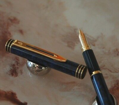 Stylo plume WATERMAN EXCLUSIVE PLUME OR 18 CARATS IDEAL taille M G35