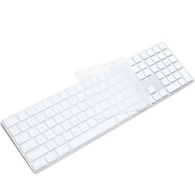 ProElife Ultra Thin Silicone Full Size Wireless Bluetooth Numeric Keyboard Cover