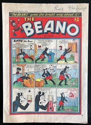 THE BEANO COMIC 5th DECEMBER 1959 VG CONDITION