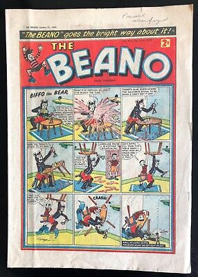 THE BEANO COMIC 31st OCTOBER 1959 VG CONDITION