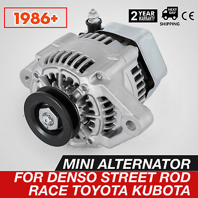 Get MINI ALTERNATOR FOR DENSO STREET ROD RACE 1-WIRE One Wire 70 Amp Seat