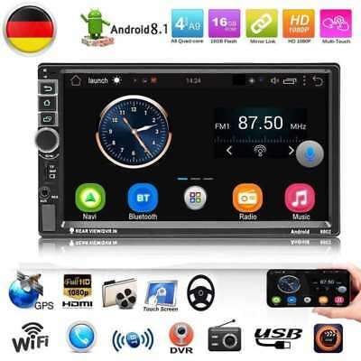 "Quad Core Android 8.0 Autoradio 3G 4G WIFI 7"" Doppel 2DIN MP5 GPS Player Europe"