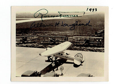 1933 Photo Signed By Aviation Pioneers Roscoe Turner And Allan H. Loughead