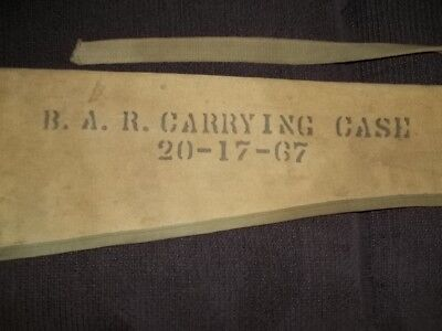 Vintage WW 2  B.A.R. Automatic Rifle Canvas/Leather Carrying Case 20-17-67, RARE