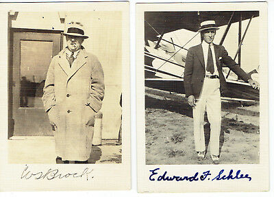 1927 William S. Brock And Edward F. Schlee Signed Photos/round-The-World- Pilots