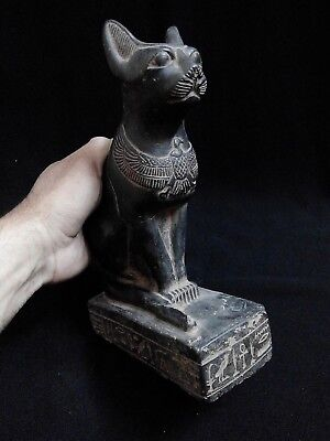 EGYPTIAN ANTIQUES ANTIQUITIES Seated Cat Bastet Ubaste Bast 2290-2665 BCE
