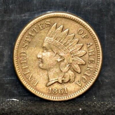 1861 Indian Cent - XF/AU Details (#17252)