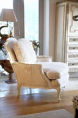 Vintage Shabby Chic French Louis XV  Armchair