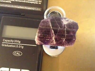 Scapolite Fluorescent Terminated Crystals, natural violet purple quality, AFG