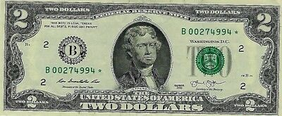 **$2.00~2013~*STAR* Note FRB of New York~Low ##s~B00274994*