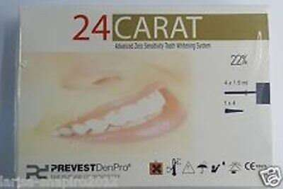 4 x 24 Carat advance tooth whitening system 22% Prevest carbamide peroxide Dent