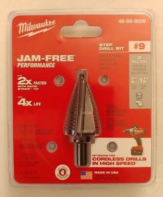 Milwaukee 48-89-9209    7/8 in. and 1-1/8 in. #9 Step Drill Bit