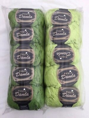 Job Lot Green Pom Pom Knitting Wool - 1000g