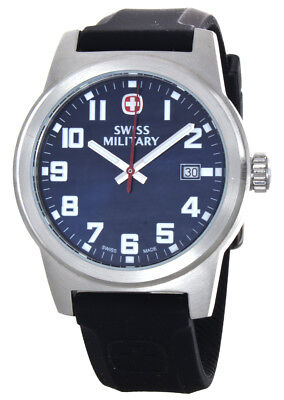 Wenger 01.0441.129 Classic Blue Dial Black Silicone Strap Men's Watch
