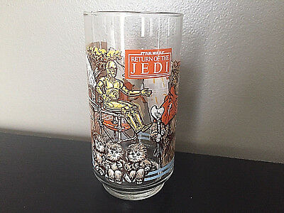 Star Wars Glass Return of the Jedi Vintage Burger King Glasses Coca Cola1983