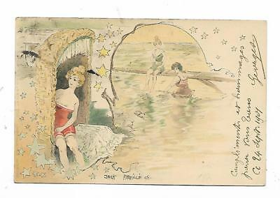 carte postale illustrateur jack abeillé 1898