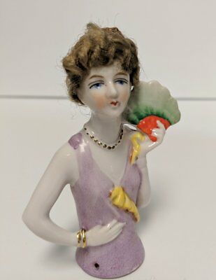 Antique Half Doll, Pincushion Doll, Flapper Style, Collectible Doll