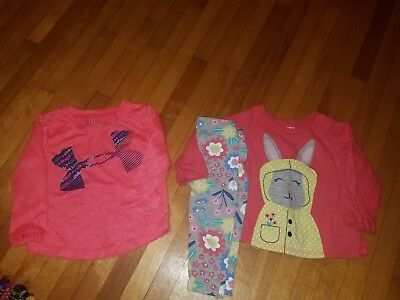 12 month Easter Bunny set Carter's and 18 months Under Armour shirt