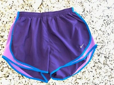 Women's Nike Tempo Dri-Fit Large L Running Track Athletic Shorts Lined Purple