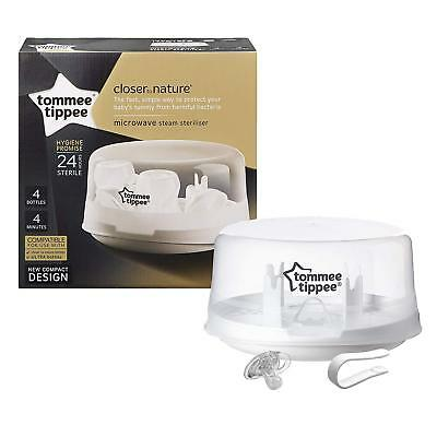Baby Bottle Microwave Steriliser Tommee Tippee Feeding Steam Kit Set Kills 99.9%