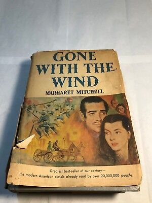 Gone With The Wind By Margaret Mitchell ~ First Edition June Printing Dj 1936