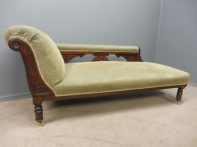 Antique Late 19Th Century Walnut Chaise Longue