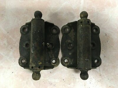 Matching Pair Of Antique Spring Loaded Hinges