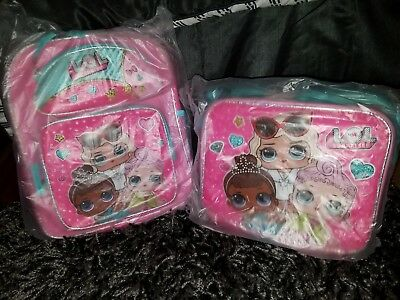 LOL Surprise Doll Backpack and Matching Lunch Box Tote - BRAND NEW!!!