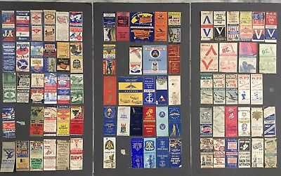 VINTAGE WW2 LOT OF 81 ARMY AIR FORCE WAR BONDS PEARL HARBOR USA MATCHBOOKS Rare