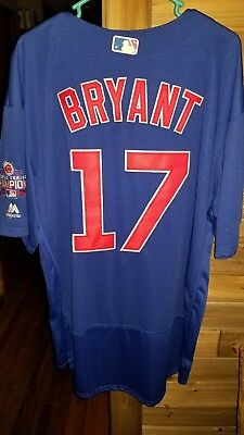 e1aa7f5aaab MAJESTIC CHICAGO CUBS 2016 World Series Kris Bryant Jersey Size  48 ...
