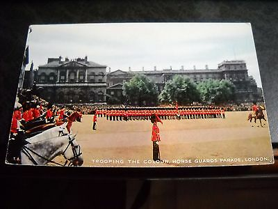 Vintage Trooping the Colour, Horse Guards Parade, London Valentine's Postcard