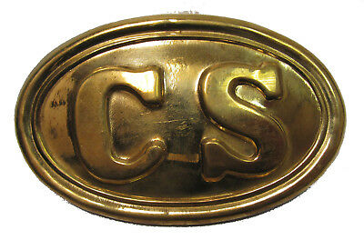 Reproduction Civil War Brass C.S. Belt Buckle for Reenactors