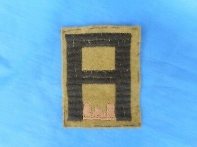 WWI US 1st Army Engineers Wool Patch. Original.