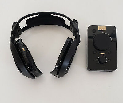 Black Astro Gaming A40 TR Headset + MixAmp Pro TR for PS4 - Works but NO EARPADS