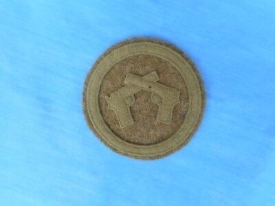 WWI US Army Expert Pistol Wool Patch. Original.