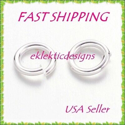 6mm 18gauge 100pcs BRASS Silver Plated Open Jump Rings Findings Earring Necklace