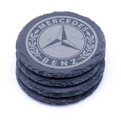 Mercedes Benz Slate Coasters Engraved Gift Set BUY 3 GET 1 FREE MIX & MATCH