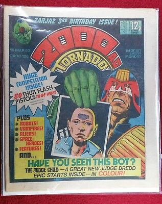 2000AD PROG 156 Dredd JUDGE CHILD 1st ISSUE KEY ISSUE GREAT CONDITION comic lot