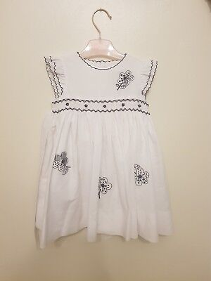 Sarah Louise White With Blue Flower Dress 12-18months occasion Spanish romany