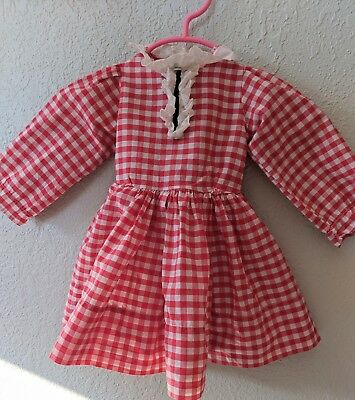 Vintage Pollyanna Doll Red And White Gingham Dress