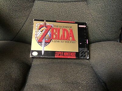 The Legend of Zelda: A Link to the Past (Super Nintendo, SNES) Complete w/ Map