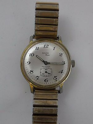 Vintage Uhr Favor Luxus Stoßfest Vergoldet Quarz Stretch Armband B333
